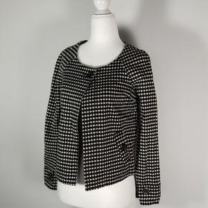 Ann Taylor Loft Black & White Cape - Preloved